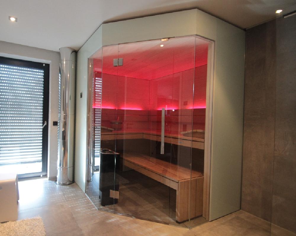 Sauna im Badezimmer - www.sauna-stegmann.de