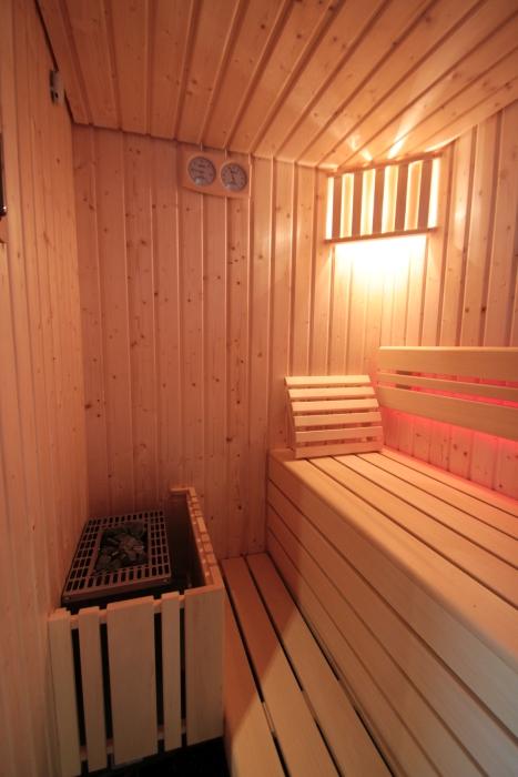 kleine Sauna in Polarfichte
