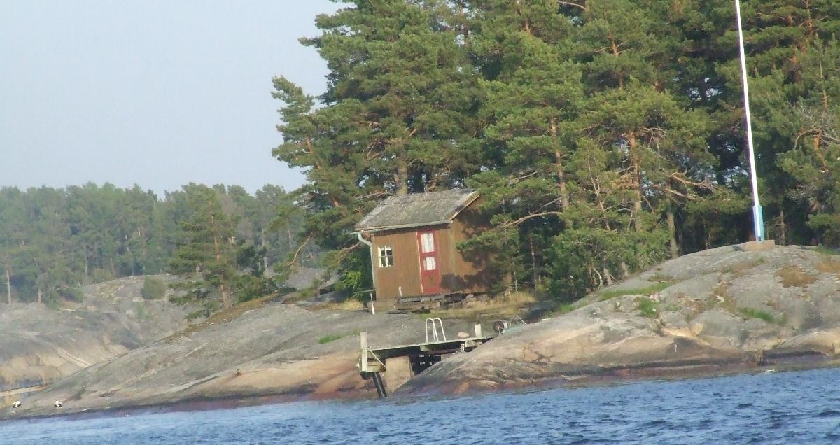 Außensauna am See